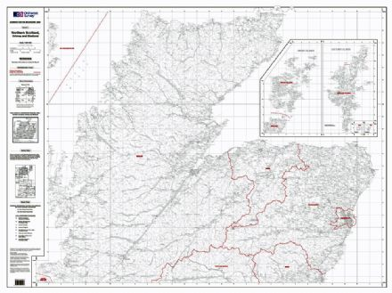 OS Administrative Boundary Map Local Government - Sheet 2 - Northern Scotland, Orkney and Shetland